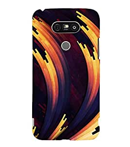 FLUIDIC ROTATING COLOUR PATTERN 3D Hard Polycarbonate Designer Back Case Cover for LG G5:LG G5 Dual H860N with dual-SIM card slots