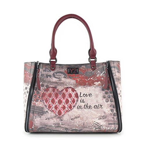 BORSA YNOT 2 MANICI REVERSIBILE + POCHETTE INTERNA E45 (LOVE IS IN THE AIR)