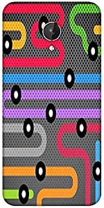 Snoogg Flow Free Tube Designer Protective Back Case Cover For Micromax Canvas Spark Q380