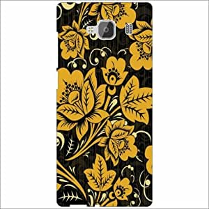 Xiaomi Redmi 2 Prime Back Cover - Silicon Flowers Desiner Cases