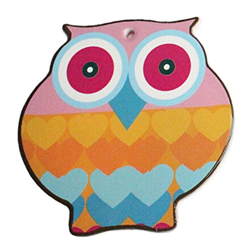 (4 PCS) Cute Colourful Owl Shape Scald-proof Cup Mat Drinking Cup Mat Cup Tray
