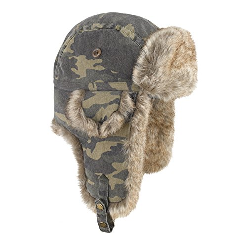 Brekka, Cappello Cotton Eco Russia, Multicolore (Camo), 58