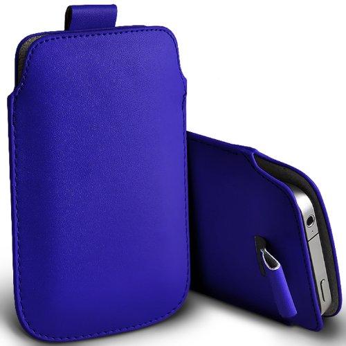 ( Blue ) Samsung Rex 60 C3312R Schutzkunstleder Pull Tab stilvolle Einbau Beutel-Kasten-Abdeckung Haut durch Spyrox