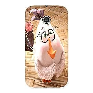 Ajay Enterprises Cute Innocent Duck Back Case Cover for Moto E