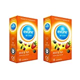 Exure Fruity Flavoured condoms x 2 packs (36) - 100% electronically tested, CE0123 certified