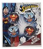 Joy Toy 301013-Superman Imanes 2.5cm de cristal, 4piezas en paquete de regalo, 1x 8.5x 9.5cm
