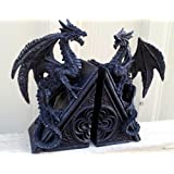 Gothic Dragon Bookends Midieval Book Ends Evil Medieval - Black Dragon Bookends