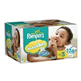 Image of Pampers Swaddlers Diapers Size 3 Economy Pack Plus 174 Count