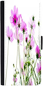 Snoogg Pink Cosmos 2681 Designer Protective Flip Case Cover For Sony Xperia Z2