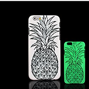 iPhone 7 Case, Glow in the Dark Pineapple Bolo Pattern TomCase Fluorescent Back Cover for iPhone 7 Case 4.7 inch, P21