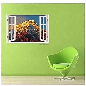 DeStudio Dhaulagiri Mountain Windows Illusion Wall Sticker Flip Side