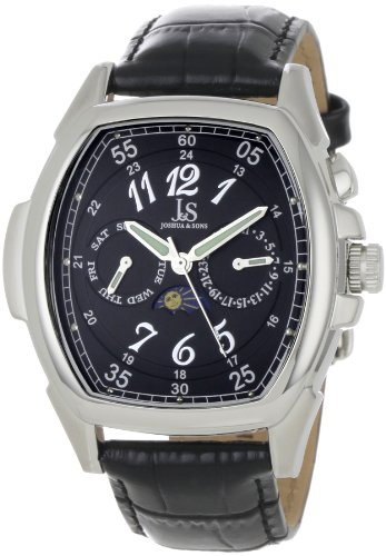 Swiss Watches:Joshua &#038; Sons Men's JS715BK Swiss Quartz Multi-Function Watch Images