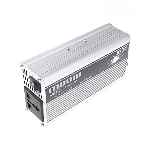 Docooler® 1000W Watts 12 Volts Dc To 110 Volts Ac Power Inverter - With Usb Port - Excellent In Powering Up Household Appliances During Power Outages - Over Temperature/Overload/Voltage Protection - Built-In Cooling Fan With Low Noise - Ideal For Camping