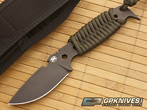 DPx Gear HEST II Assault Fixed Blade Knife,3.15in, Black Satin Tool Steel Blade w/ OD DPHSX021