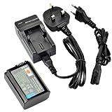 DSTE® NP-FW50 Rechargeable Li-ion Battery + Charger DC107U for Sony Alpha 7, a7, Alpha 7R, a7R, Alpha a3000, NEX-3, NEX-3N, NEX-5, NEX-5N, NEX-5R, NEX-5T, NEX-6, NEX-7, NEX-C3, NEX-F3, SLT-A33, SLT-A35, SLT-A37, SLT-A55V, Cyber-shot DSC-RX10 Digital Cam