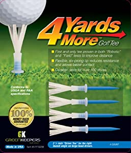 4 Yards More Golf Tee (Driver Blue, 3 1/4-Inch)