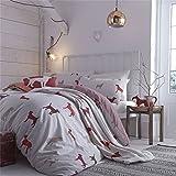 Catherine Lansfield Double Bed 200 x 200 cm Plus 2 50 x 75 cm 60 Percent Cotton 40 Percent Polyester Hounds Quilt Set, Multi-Colour
