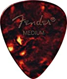 Fender 351 Classic Celluloid Guitar Picks, 12 Pack, Shell, Medium