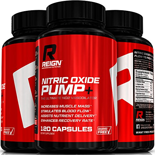 Nitric Oxide Pump+ - Powerful N.O. Pre Workout w/ L-Arginine, Citrulline Malate & Agmatine Sulfate - Stimulates Blood Flow & Enhances Recovery for Increased Muscle Mass - 120 Vegetable Capsules (Nitric Fuel compare prices)