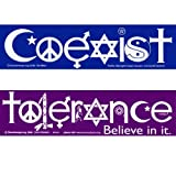 Coexist and Tolerance Bumper Stickers