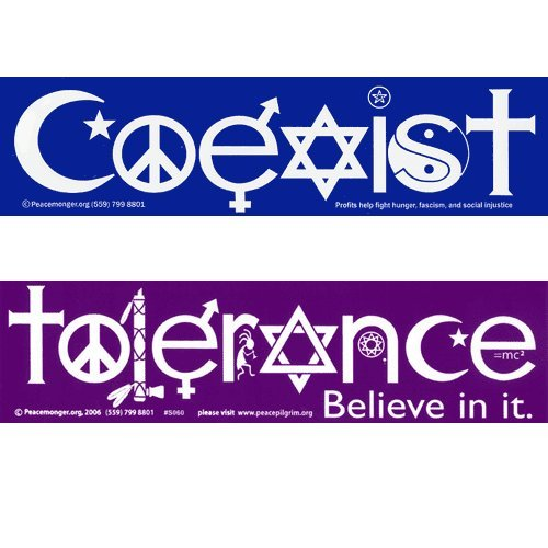 coexist and tolerance magnetic bumper stickers vehicles With kitchen cabinets lowes with coexist bumper stickers
