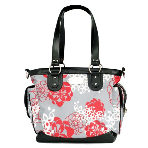 jj cole norah diaper bag cherry lotus nappy bag nappy bags designer. Black Bedroom Furniture Sets. Home Design Ideas
