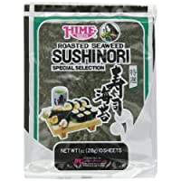 Hime Seaweed Sushi Nori, 10 Sheets, Net. Wt. 1 Ounce