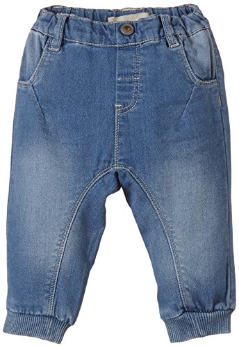 NAME IT Baby - Jungen Jeanshose Holm Nb Cu Sweat Dnm Reg Pant 215, Gr. 74, Blau (Medium Blue Denim)