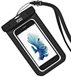 YOSH® Universal Waterproof Case Bag for Apple iPhone 6s, 6 Plus, Samsung Galaxy S6 Edge. Best Water Proof, Dust Dirt Proof, Snowproof Pouch for Cell Phone up to 6 inches - Lifetime Warranty(Black)