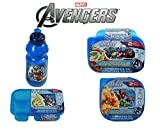 Marvel Avengers Boys 6 Piece Reusable Lunch Container Kit - Water Bottle, Salad, Sandwich and Divided Lunch Containers