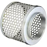 PT Coupling Carbon Steel  Round Hole Pump Suction Strainer, 4""