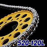 Big-One(ビッグワン) バイク チェーン 交換 520-120L クリップジョイント 強化Type シルバー 43769