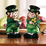Collections Etc - Lovable Irish Leprechaun Salt & Pepper Shaker Set