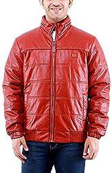 Time Option Men's Faux Leather Jacket (5033-Copper_42)