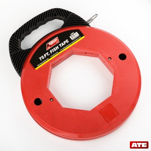 """Fish Tape 75"""" Heavy Duty With Durable Handle And Impact Case Wire Puller Set"""