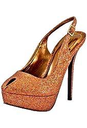 Breckelles Nicole-02 Red Multi Glitter Women Platform Pumps
