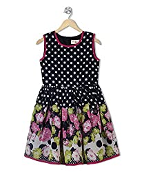 Budding Bees Girls Blue Floral Fit & Flare Dess