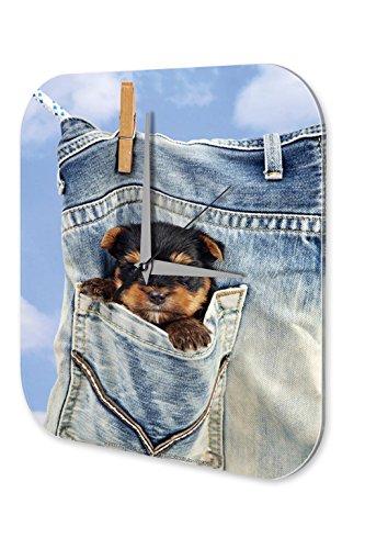 orologio-da-parete-arredamento-cucina-marke-clothesline-tasca-puppy-plexiglas-acrillico-stampato-25x