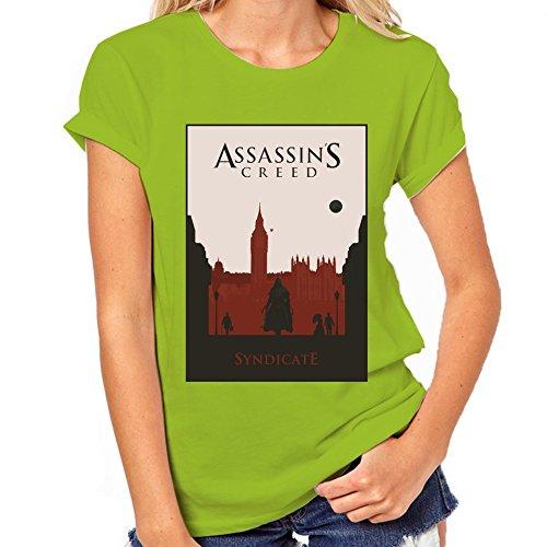 Assassin's Creed Syndicate-Maglietta classica da donna verde XXL
