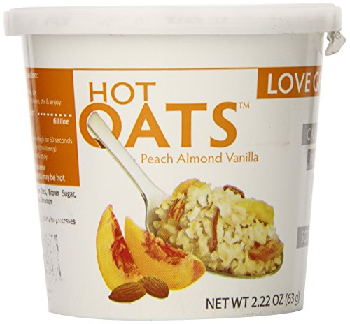 Love Grown Hot Oats, Peach Almond Vanilla, 2.22 Ounce