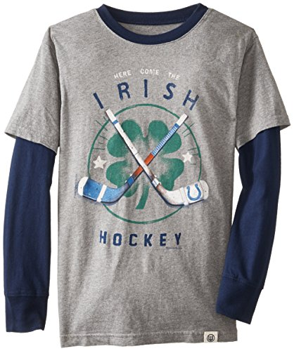 Wes & Willy Big Boys' Irish Hockey 2 In 1, Charcoal, X-Large front-1014384
