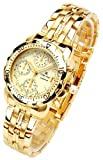 Oskar Emil Caesium 1119G Mens 23ct Gold Plated Chronograph Watch with Cream Dial