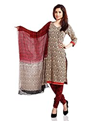 Pinkshink Womens Cotton Unstitched Dress Material (Psk25 _Red)