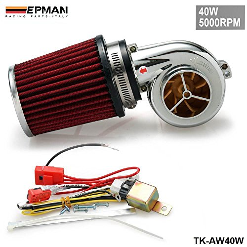 EPMAN New Motor Electrical Turbocharge 40W 5000RPM / Supercharger Kit / Universal Fit Ride On Mower (Supercharger Electric Intake compare prices)