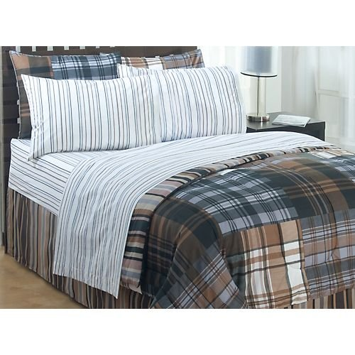 Bentley Full Bed Sheet Set Striped Bedding Accessories