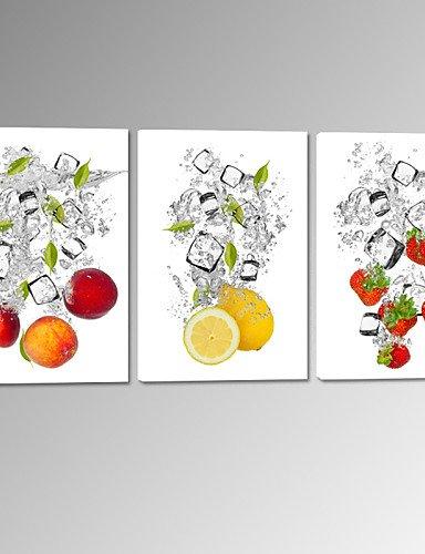 CHINT frutta generico in acqua tela tesa Stampa Fragola Limone Foto parete pronto ad appendere NL375