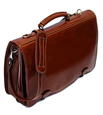 Cenzo Italian Leather Messenger Bag