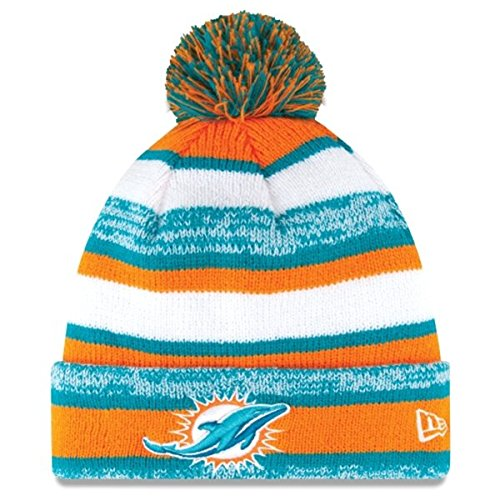 New Era On field Sport Knit Miami Dolphins Game Hat Teal/Orange/White Size One Size