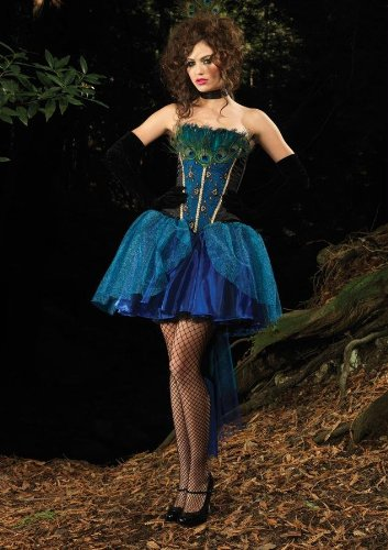 Costumes For All Occasions Ua83882Lg Peacock Princess Dlx Large