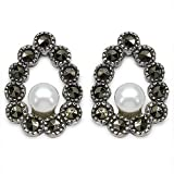 Silvantra Pearl Silver Earrings